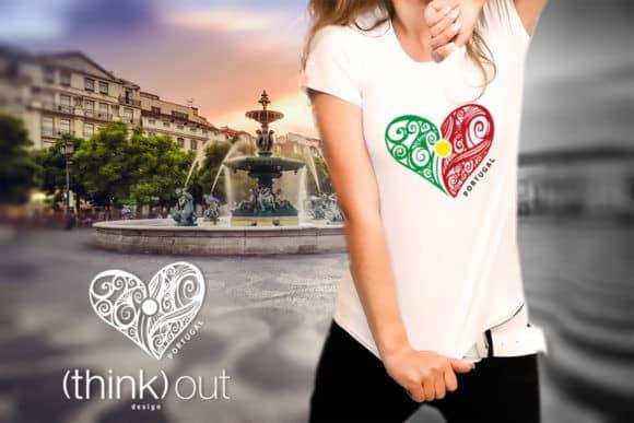 T-shirt Coração de Portugal