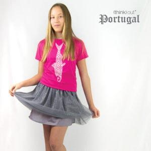 T-shirt de Senhora Sardinha Rosa