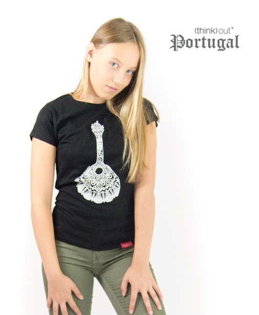 T-shirt de Senhora Fado Preta